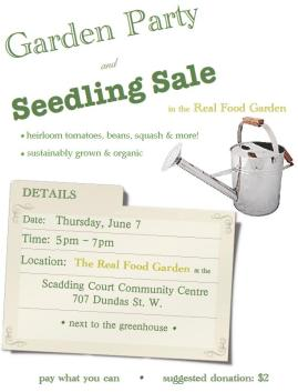 Garden Party & Seedling Sale