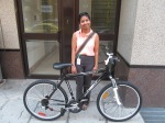 Clean Air Commute Bike Winner Charmaine Silva