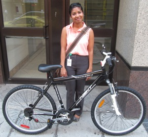 Clean Air Commute Winner Charmaine Silva