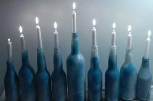 bottle menorah