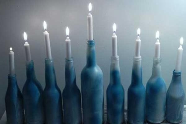 bottle menorah