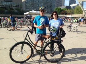 Alex and Lisa on Bike to Work Day