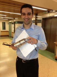 Majid wins coffee card & mug at TRI-UC...& joins the green team!