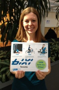 Deanna wins a BIXI membership at Toronto Western Hospital
