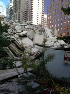 The demolition of 90 Gerrard.