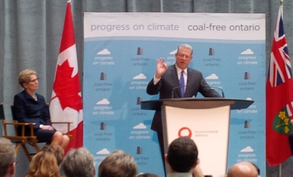 Al Gore speaks as Ontario shuts out coal