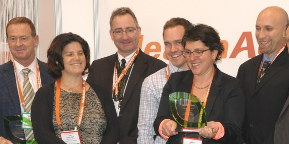UHN Wins 2 @OHA (our team from left) Michael Sheeres, Lisa Vanlint, Rick Pews, Chad Berndt, Kady Cowan, Ed Rubinstein