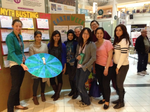 Some of our green team at PMH on Earth Week