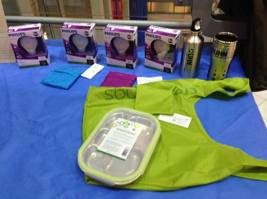 Play to Win these eco-friendly prizes. LED lights, litterless lunchables and stylin' reusable bags