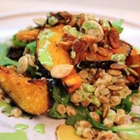 Farro and squash salad