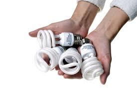 CFLs have Mercury! Put in Household Hazardous Waste