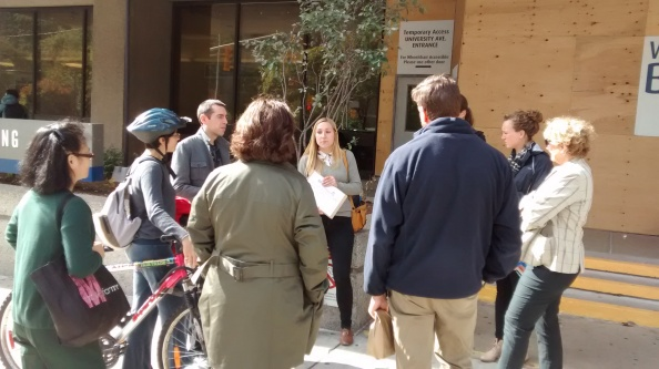 The start of our lunchtime guided walk with SmartCommute. We move faster later