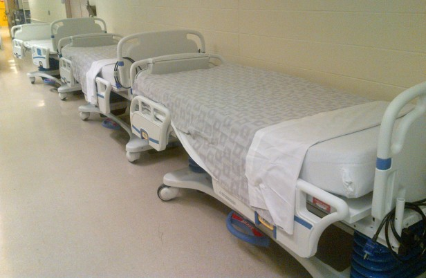 State-of-the-art new beds waiting to be delivered to the unit. -Image Credit Tracy Noftall.