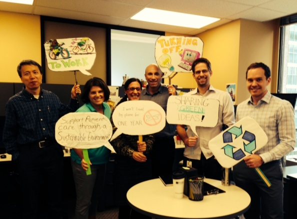 The Energy & Environment Team showing off some of what we do.