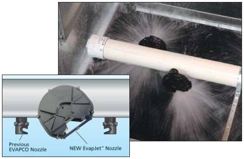 New spray nozzles with larger opening