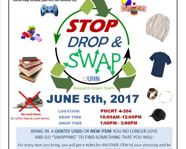 Celebrating World Environment Day:  UHN Research Green Team's  Stop, Drop & SwapEvent