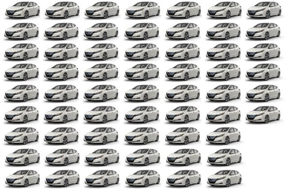 60 Nissan Leafs