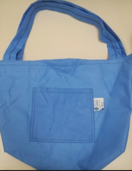 blue wrap bag