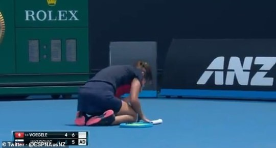 Image result for Dalila Jakupovic australian open collapse