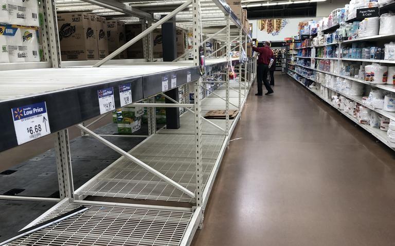 Toilet paper shelves near empty in Dickinson as coronavirus panic ...
